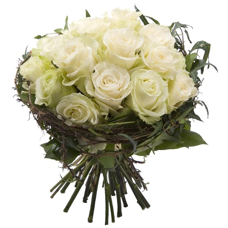 Bouquet de roses blanches avalanche