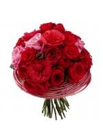 Bouquet de fleurs rouges