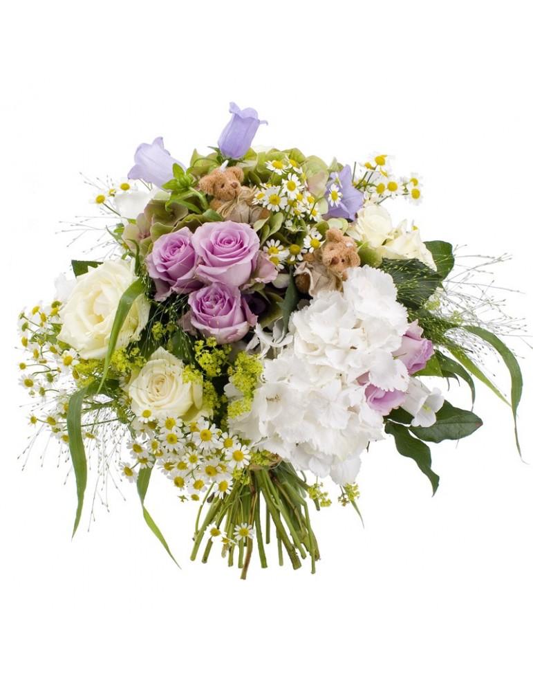 Bouquet de fleurs d'été. Pastels.