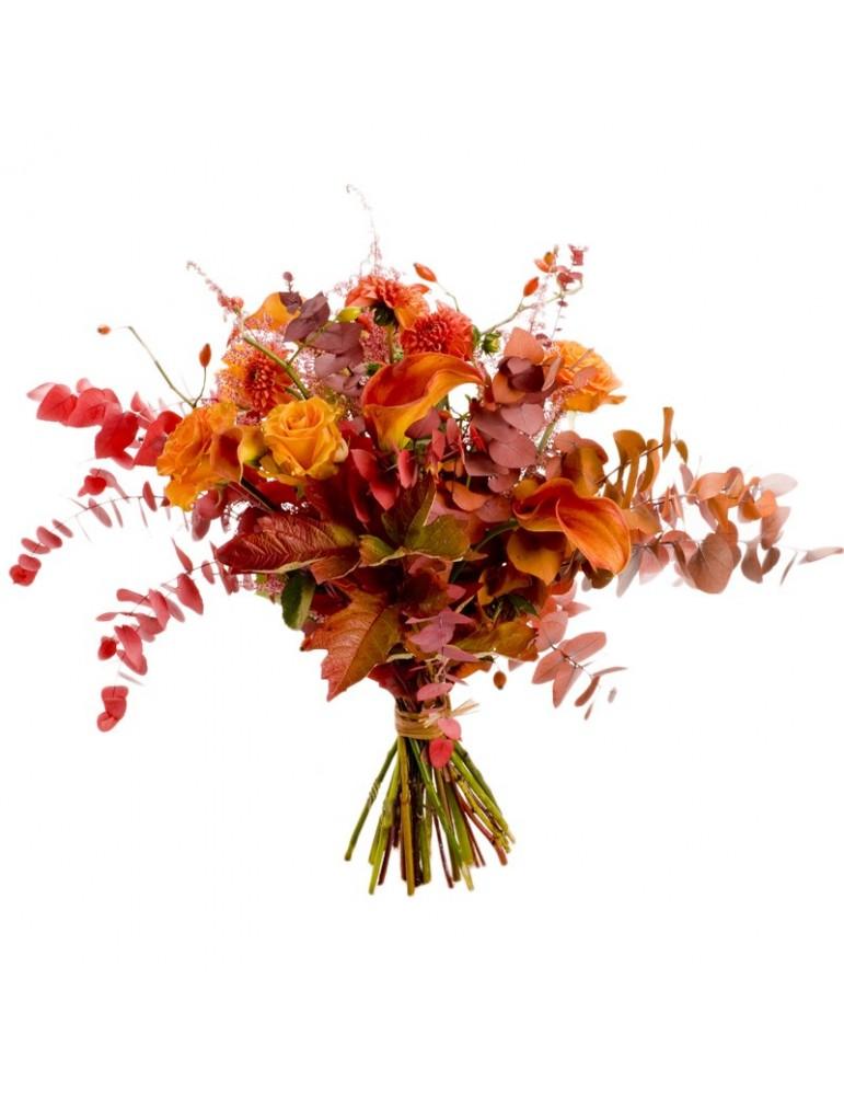 Bouquet haut, couleurs automne.