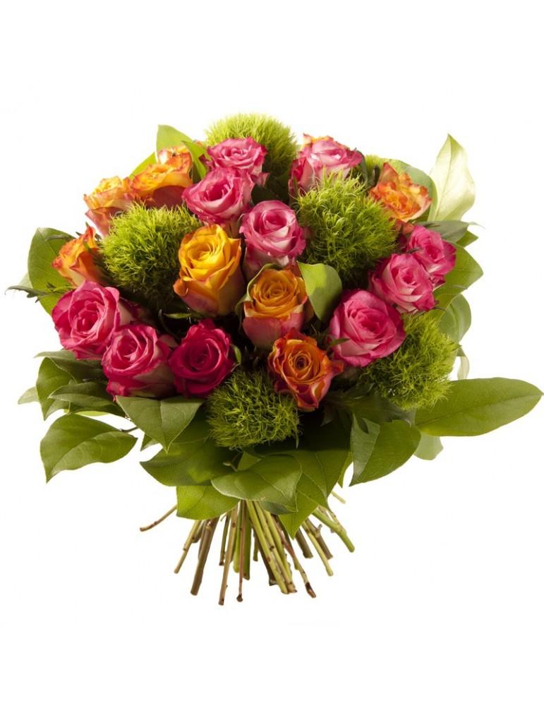 Bouquet roses d'automne
