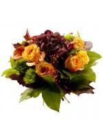 Bouquet rond, thème automne