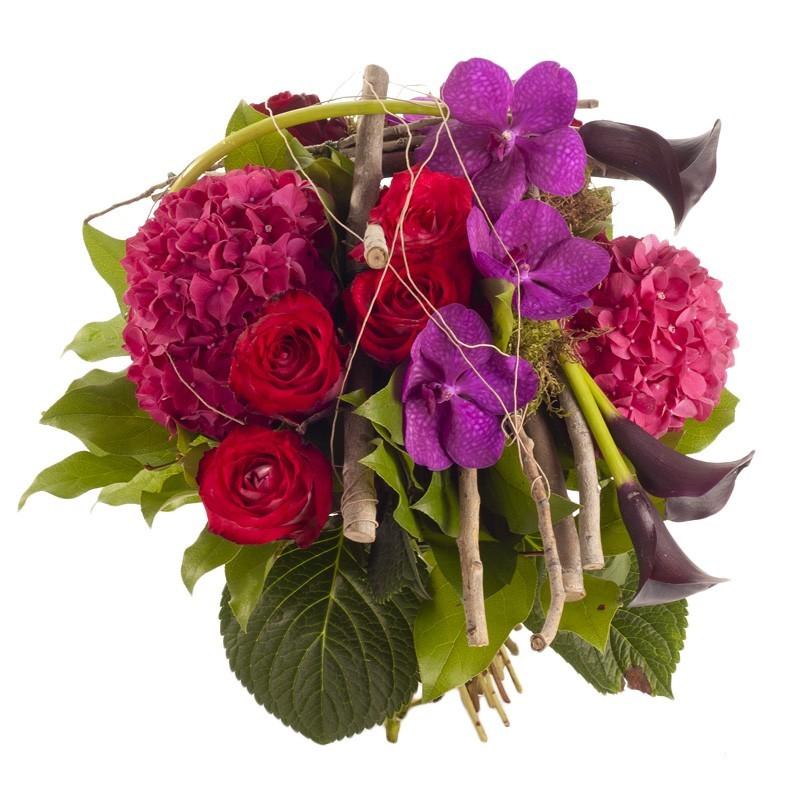 bouquet rond construction asymétrique