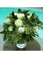 Grand bouquet blanc et vert