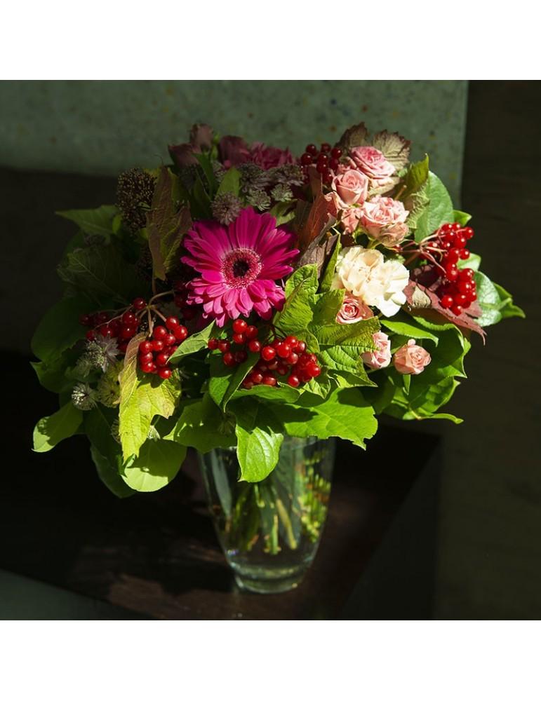 bouquet rond couleurs vives