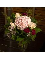 Bouquet de fleurs rond classique