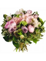 Bouquet de fleurs couleurs pastels roses pivoines