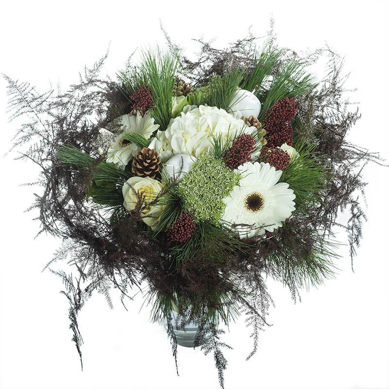 bouquet de fleurs fraîches accents festifs