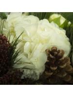 détail hortensia crème