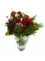 bouquet de fleurs fraîches fêtes de Noël