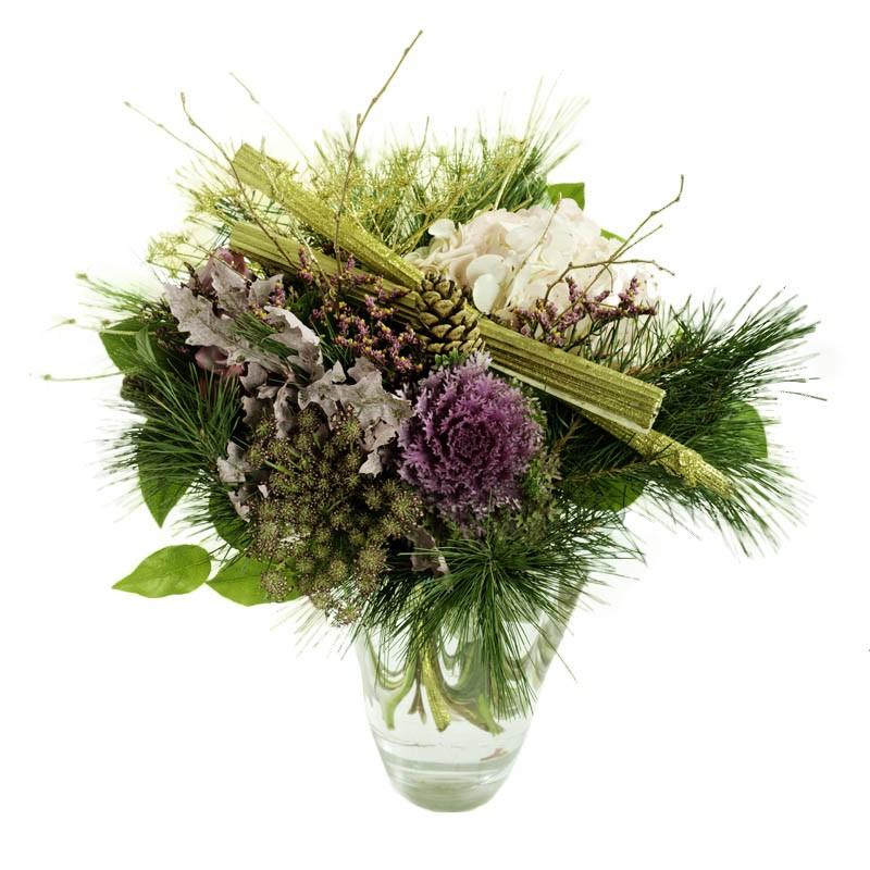 bouquet de fleurs pour Noël