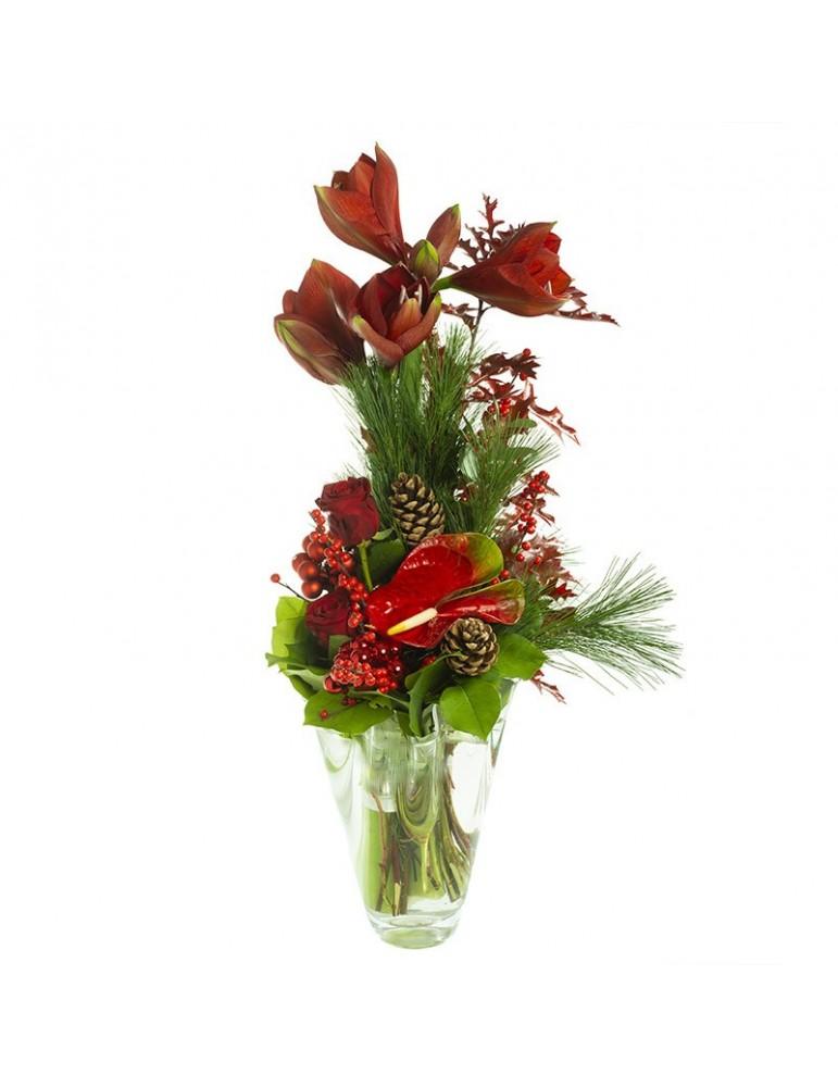 Bouquet rouge haut