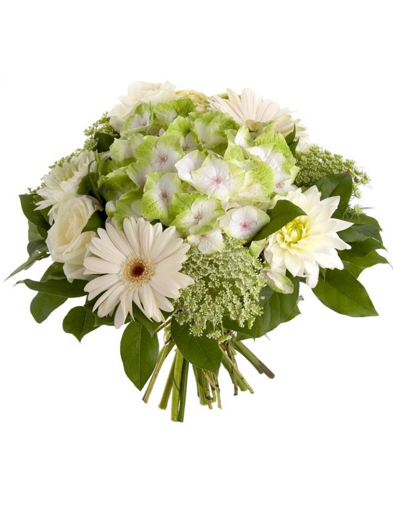 Bouquet rond couleur crème
