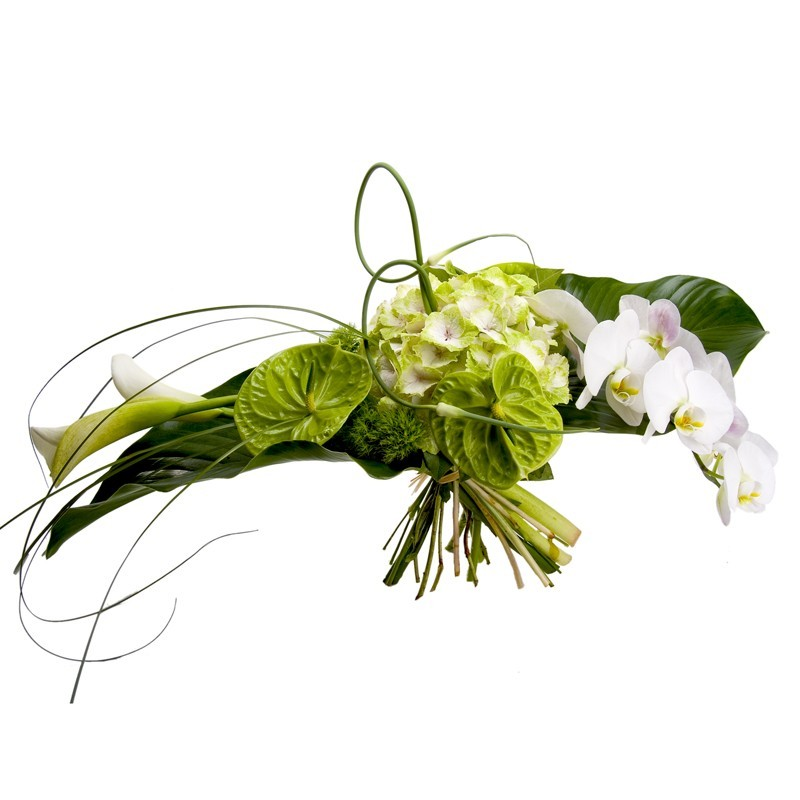 Grand bouquet blanc horizontal